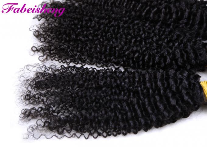 8A Natural Color Virgin Malaysian Deep Curly Hair Full Cuticle Glided
