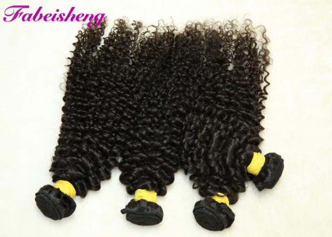 Natural Color Brazilian Yaki 8A Virgin Hair Curly Deep Wave For Black Woman 0