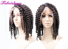 Deep Curly Malaysian Virgin Human Hair Full Lace Wigs For Black Women 8A Grade