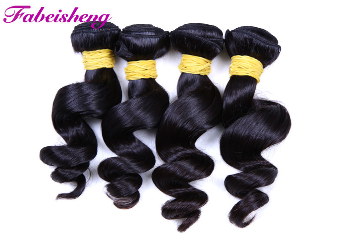 Peruvian Wavy 8A Virgin Hair Extensions , Virgin Peruvian Wavy Hair Double Drawn