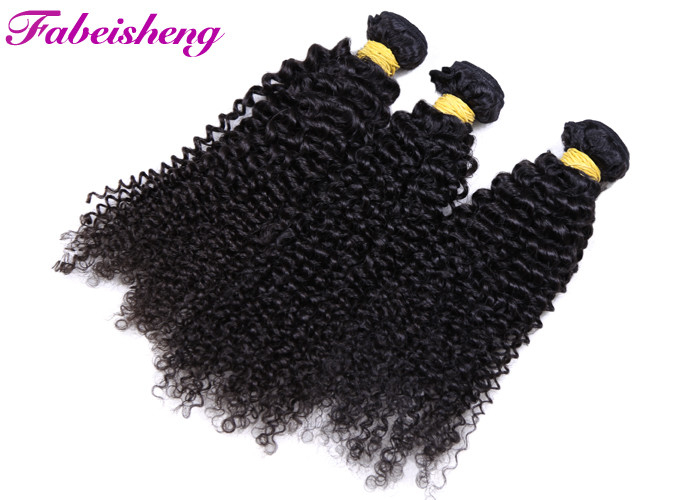 Virgin Malaysian Kinky Curly Hair Extensions Double Weaving Grade 8A