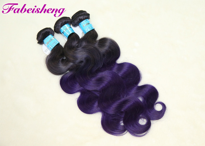Malaysian Ombre Human Colored Hair Extensions Body Wave Full Cuticle