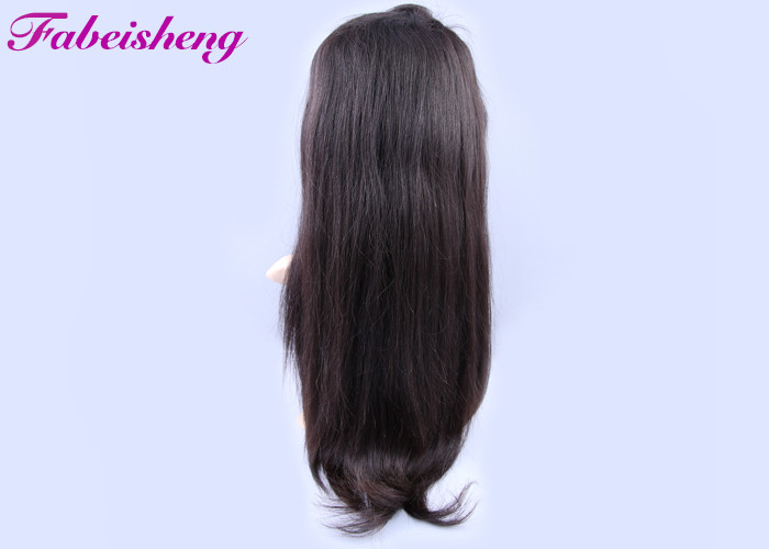 Natural Hairline Bleached Knots Glueless Full Lace Wigs / 100% Indian Human Hair Wigs