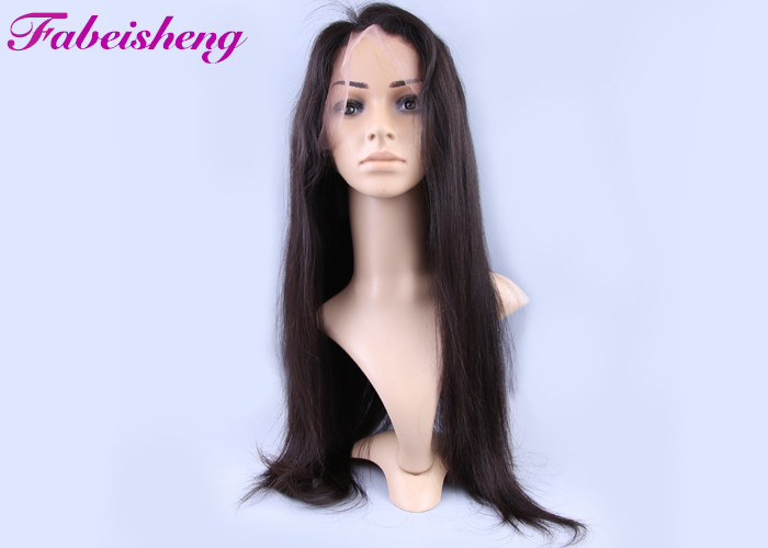 150g Natural Straight Full Lace Human Hair Wigs For Black Women