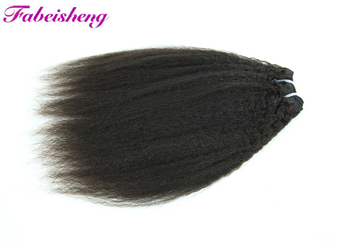 Heathly Natutral Black Grade 7A Virgin Hair , Brazilian Human Hair Extensions