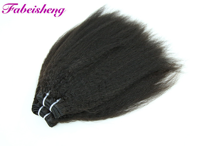 "12 - 30"" Kinky Straight 100% Raw 7A Virgin Hair Double Weft No Shedding"