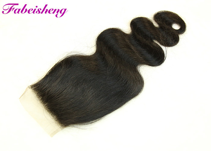 "Free Parting 4x4 Lace Closure  ,  Virgin Indian Hair Soft Body Wave 18"" 20"""